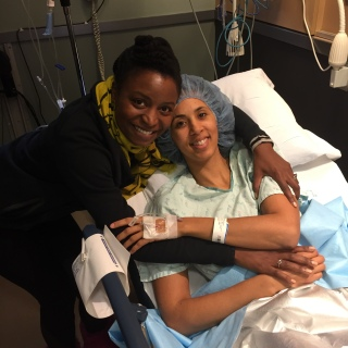 I was so thankful to have my friend Tina at the hospital before my procedure