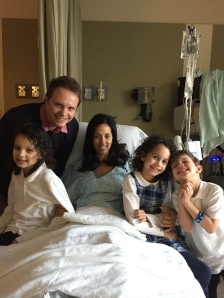 The moment I was waiting for!! My family all together again shortly after surgery. God is good!!